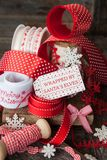 Cheerful gift ribbons for Christmas royalty free stock photos