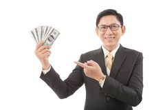 Cheerful rich businessman Stock Photos