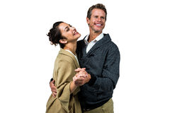 Cheerful romantic couple dancing Royalty Free Stock Images