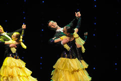 The cheerful rotation-The French Cancan-the Austria's world Dance Royalty Free Stock Photography