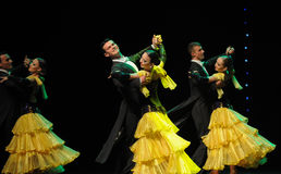 The cheerful rotation-The French Cancan-the Austria's world Dance Royalty Free Stock Image