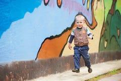 Cheerful runner kid Royalty Free Stock Image