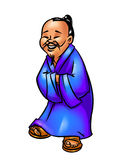 Cheerful sage Chinese man cartoon Royalty Free Stock Photos