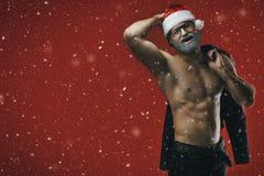 Cheerful santa Stock Photos