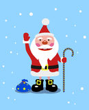Cheerful Santa Claus with gifts Royalty Free Stock Image