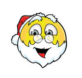 Cheerful Santa Claus smiley Royalty Free Stock Images