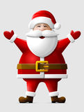 Cheerful Santa Claus standing in full length Stock Images