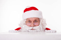 Cheerful Santa Claus is waiting for you Stock Image