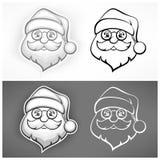 Cheerful Santa face Royalty Free Stock Photo