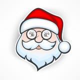 Cheerful Santa face Stock Photography