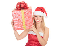 Cheerful santa helper Stock Photo