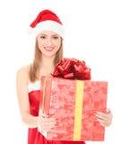Cheerful santa helper Royalty Free Stock Image