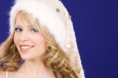Cheerful santa helper royalty free stock photos