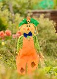 Cheerful scarecrow Stock Images