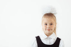 Cheerful school girl standing Royalty Free Stock Image