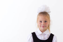 Cheerful school girl standing Royalty Free Stock Photography