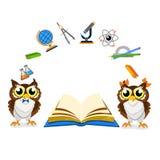 Cheerful school owl Royalty Free Stock Photo