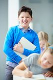 Cheerful schoolboy Stock Image