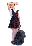 Cheerful schoolgirl Stock Images