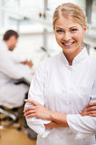 Cheerful scientist. stock photography