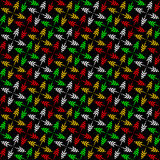 Cheerful seamless pattern. Royalty Free Stock Images