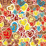 Cheerful seamless pattern Royalty Free Stock Images