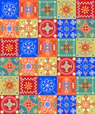 Cheerful seamless pattern - holiday Royalty Free Stock Images
