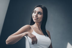 Cheerful seductress. Royalty Free Stock Photography