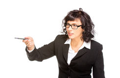 Cheerful senior business woman Stock Images