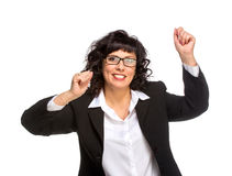 Cheerful senior business woman Stock Photography