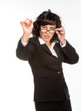 Cheerful senior business woman Stock Image