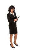 Cheerful senior business woman with Tablet computer Royalty Free Stock Images