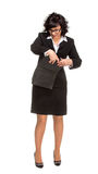 Cheerful senior business woman with Tablet computer Stock Photos