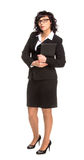 Cheerful senior business woman with Tablet computer Royalty Free Stock Photo