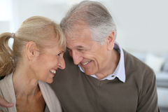 Cheerful senior couple looking at each other Royalty Free Stock Photo