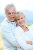 Cheerful senior couple outdoors Stock Photo