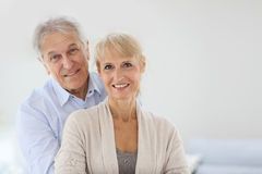 Cheerful senior couple smmiling  Royalty Free Stock Photos