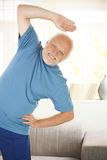 Cheerful senior doing sport Royalty Free Stock Photos