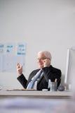 Cheerful senior employer Royalty Free Stock Image