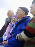Cheerful Senior Friends Spending Time Together Stock Photo