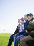 Cheerful Senior Friends Spending Time Together Royalty Free Stock Image