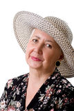 Cheerful Senior Lady Portrait Royalty Free Stock Photos