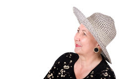 Cheerful Senior Lady Portrait Royalty Free Stock Images