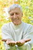 Cheerful senior man royalty free stock image