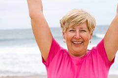 Cheerful senior woman Stock Photos