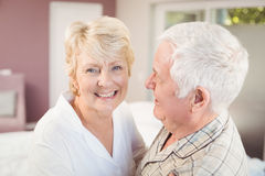 Cheerful senior woman with husband Stock Images