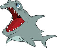 Cheerful shark. Cartoon Royalty Free Stock Photography
