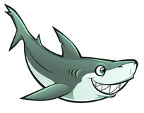 Cheerful shark Stock Photography