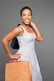 Cheerful shopaholic Stock Image
