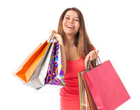 Cheerful shopper Stock Photography